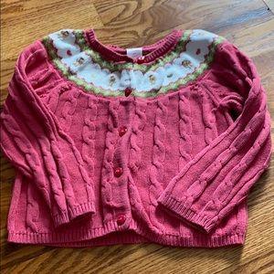 Cable knit fair isle cardigan